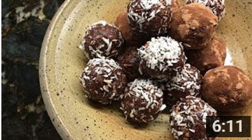 Coconut, Pecan, Chocolate Truffles